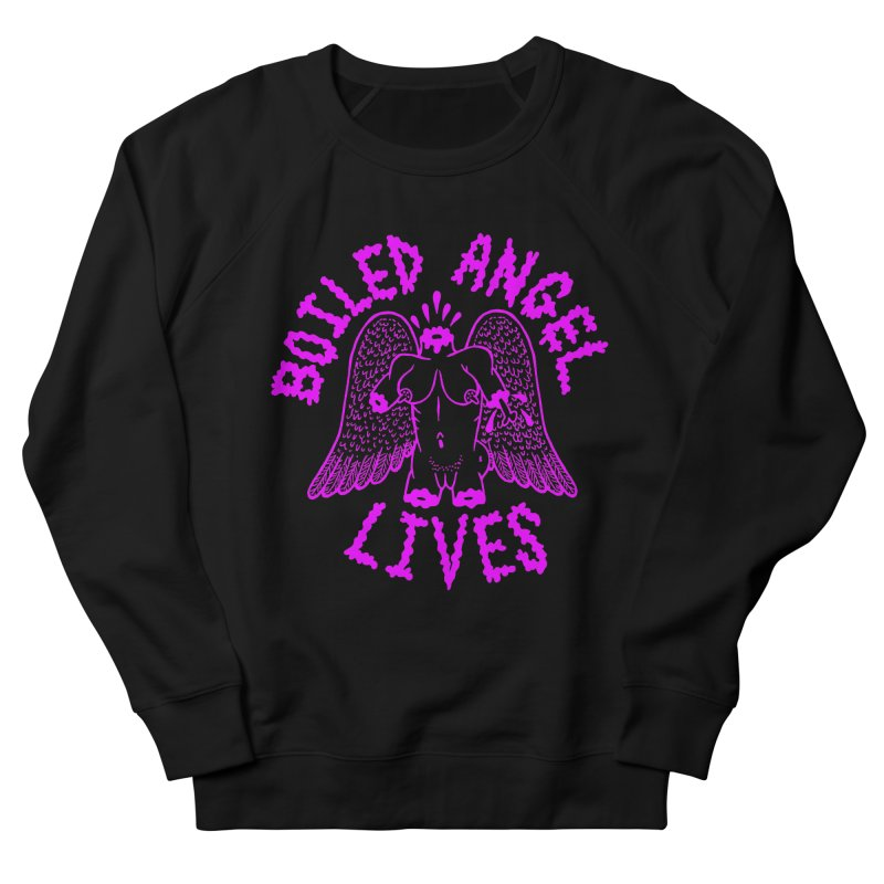 Mike Diana BOILED ANGEL LIVES - Purple Men's French Terry Sweatshirt by Mike Diana T-Shirts! Horrible Ugly Heads Limited E