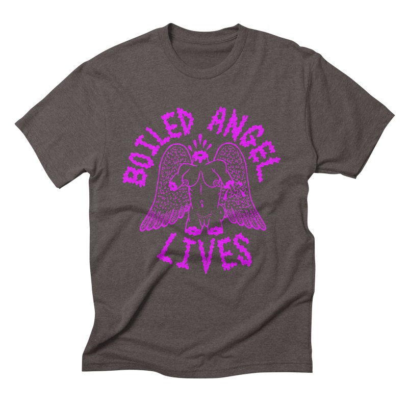 Mike Diana BOILED ANGEL LIVES - Purple Men's Triblend T-Shirt by Mike Diana T-Shirts Mugs and More!