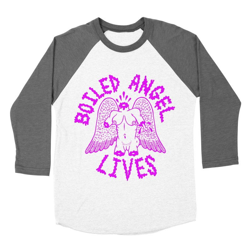 Mike Diana BOILED ANGEL LIVES - Purple Women's Baseball Triblend Longsleeve T-Shirt by Mike Diana T-Shirts! Horrible Ugly Heads Limited E