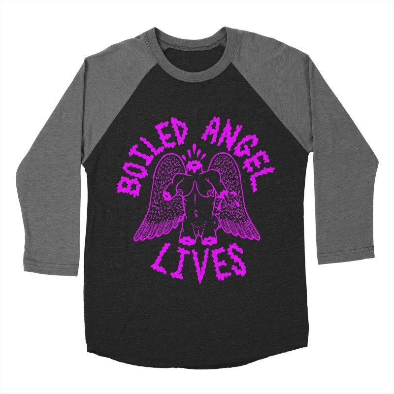 Mike Diana BOILED ANGEL LIVES - Purple Women's Baseball Triblend Longsleeve T-Shirt by Mike Diana T-Shirts Mugs and More!