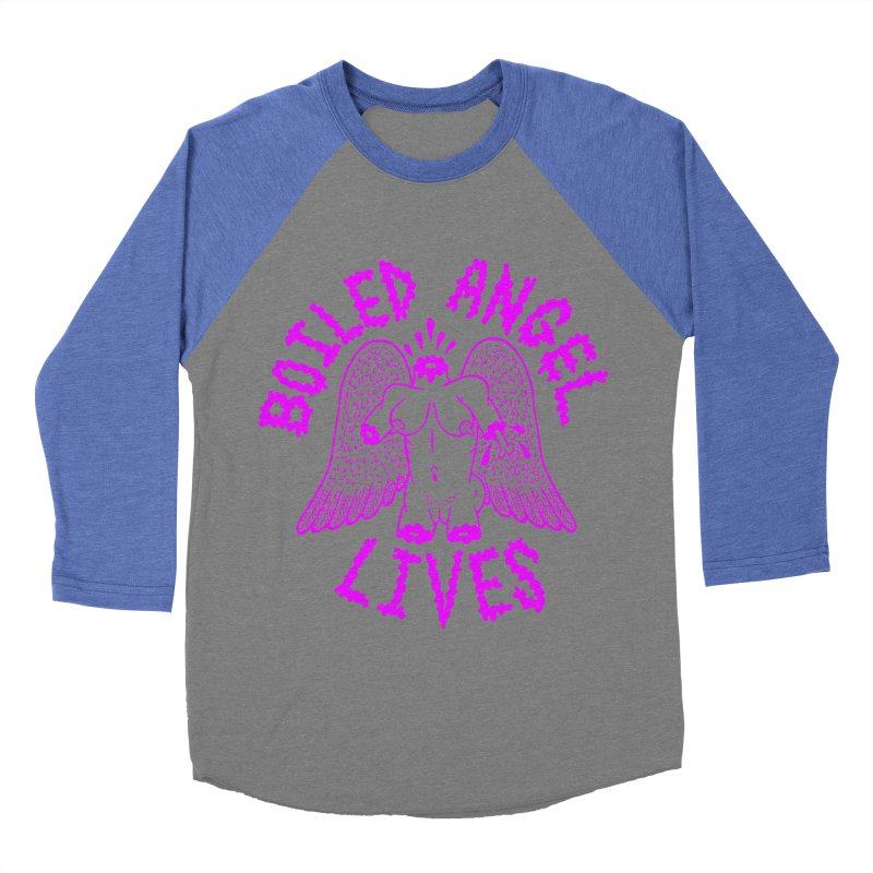 Mike Diana BOILED ANGEL LIVES - Purple Men's Baseball Triblend Longsleeve T-Shirt by Mike Diana T-Shirts Mugs and More!