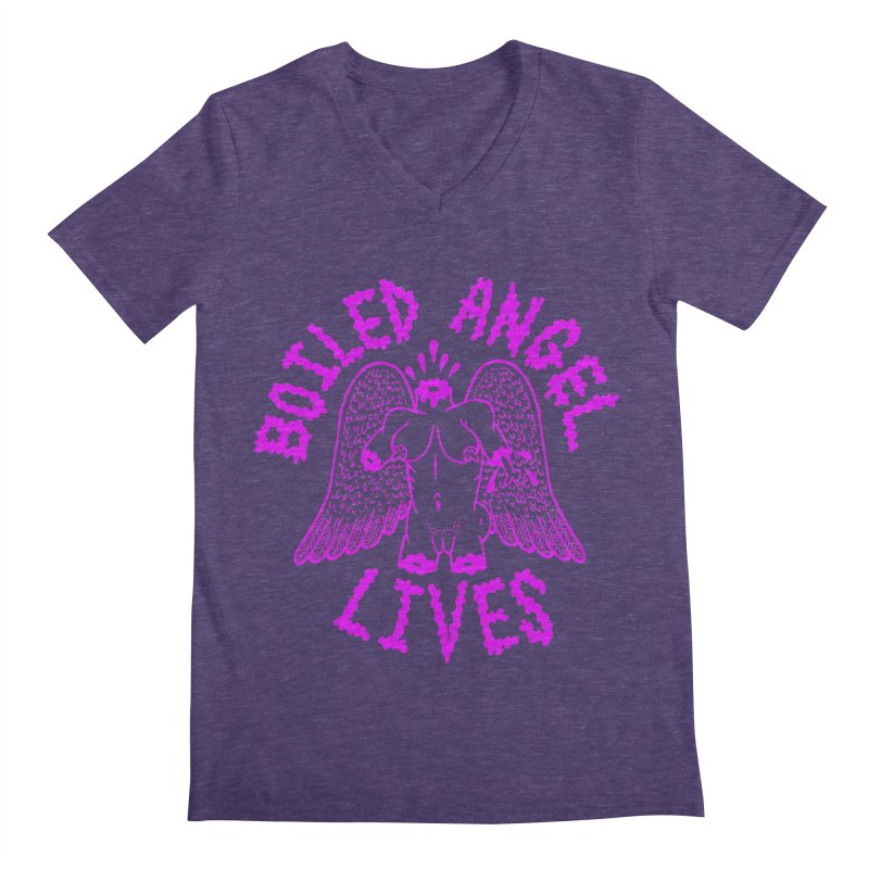 Mike Diana BOILED ANGEL LIVES - Purple Men's Regular V-Neck by Mike Diana T-Shirts Mugs and More!