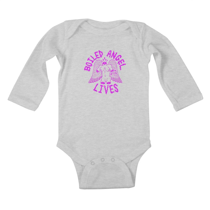 Mike Diana BOILED ANGEL LIVES - Purple Kids Baby Longsleeve Bodysuit by Mike Diana T-Shirts Mugs and More!
