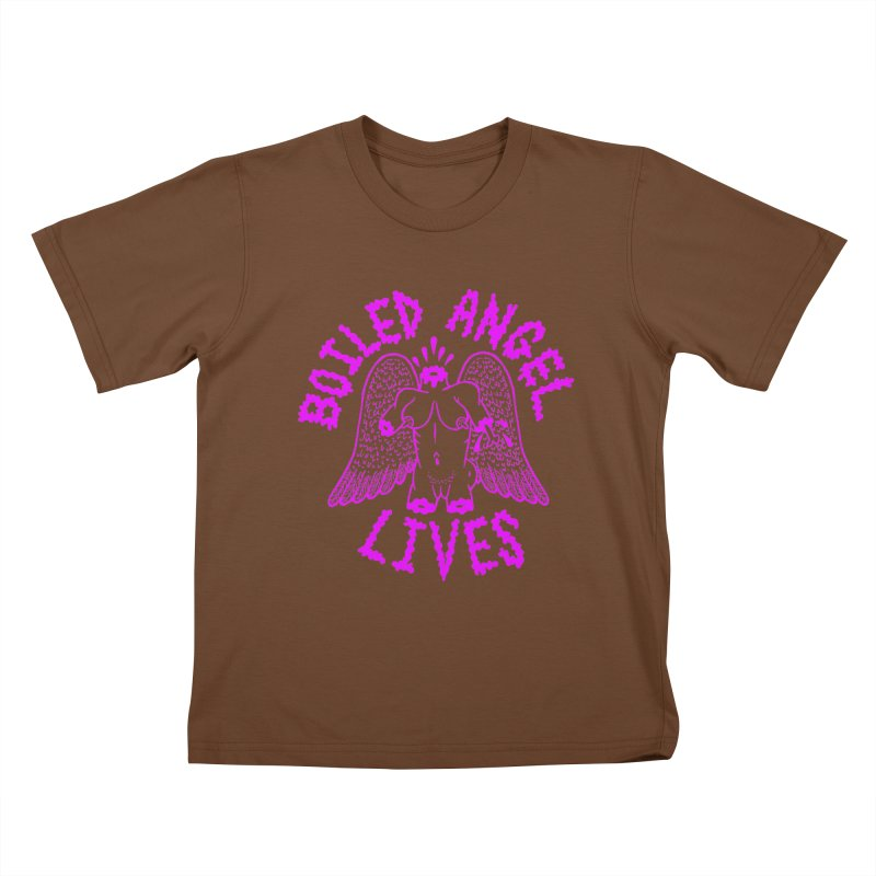 Mike Diana BOILED ANGEL LIVES - Purple Kids T-Shirt by Mike Diana T-Shirts! Horrible Ugly Heads Limited E