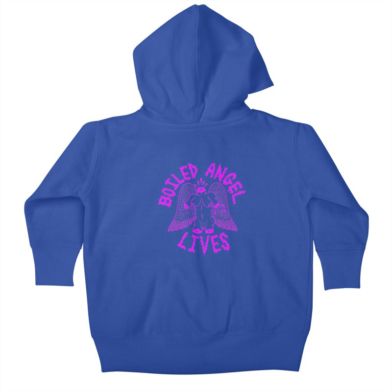 Mike Diana BOILED ANGEL LIVES - Purple Kids Baby Zip-Up Hoody by Mike Diana T-Shirts Mugs and More!