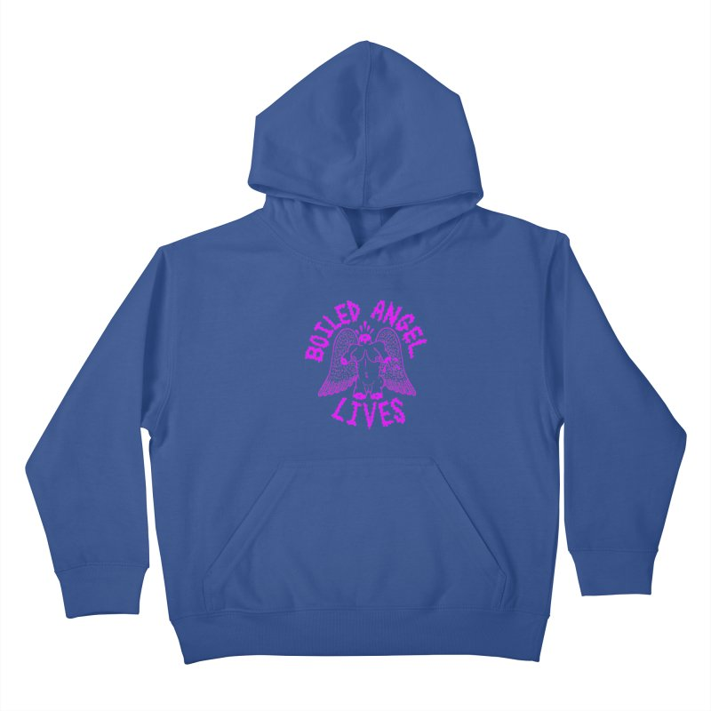 Mike Diana BOILED ANGEL LIVES - Purple Kids Pullover Hoody by Mike Diana T-Shirts Mugs and More!