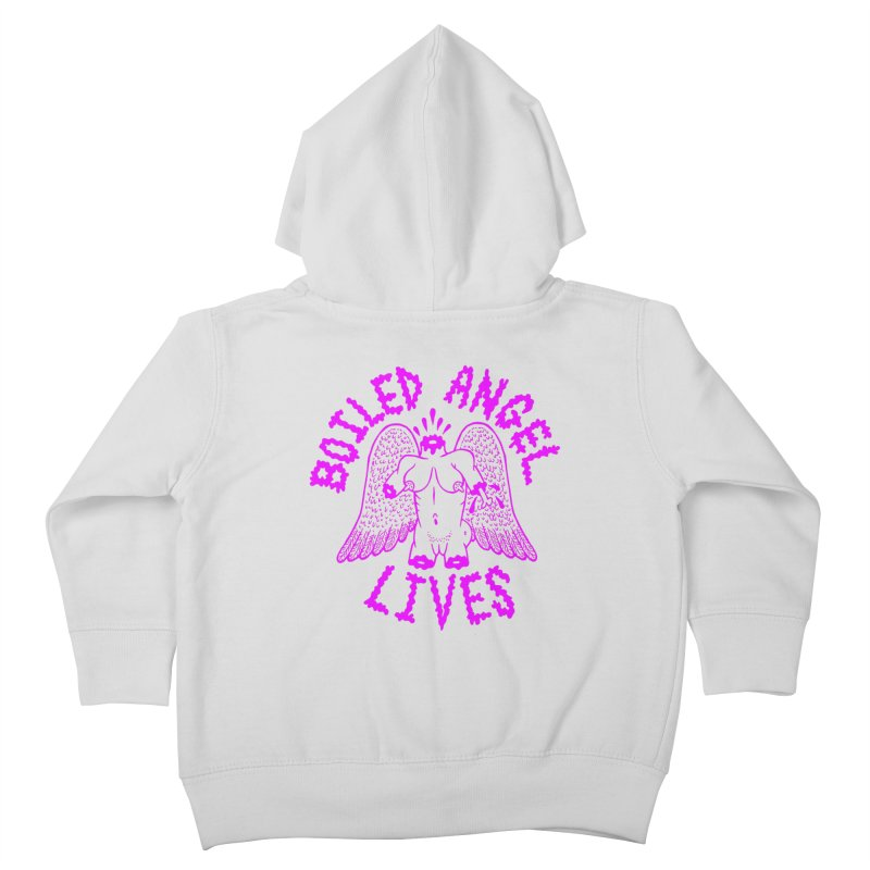 Mike Diana BOILED ANGEL LIVES - Purple Kids Toddler Zip-Up Hoody by Mike Diana T-Shirts! Horrible Ugly Heads Limited E