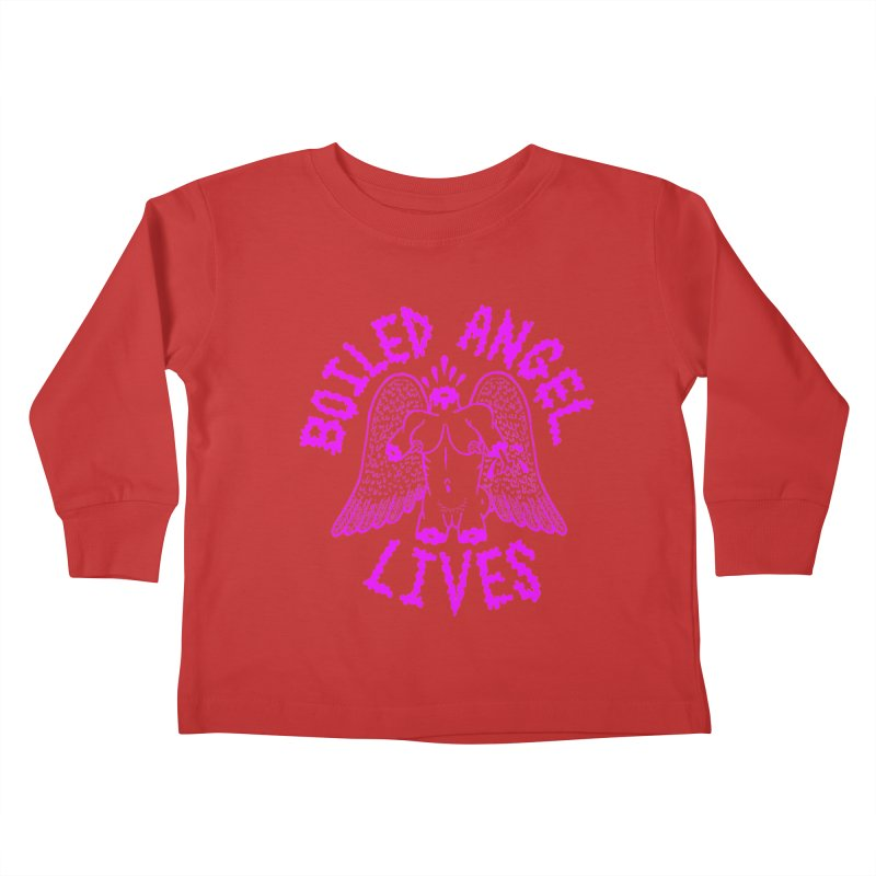 Mike Diana BOILED ANGEL LIVES - Purple Kids Toddler Longsleeve T-Shirt by Mike Diana T-Shirts! Horrible Ugly Heads Limited E