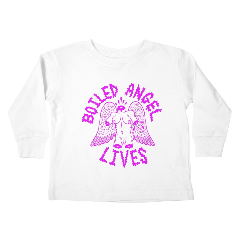 Mike Diana BOILED ANGEL LIVES - Purple Kids Toddler Longsleeve T-Shirt by Mike Diana T-Shirts Mugs and More!
