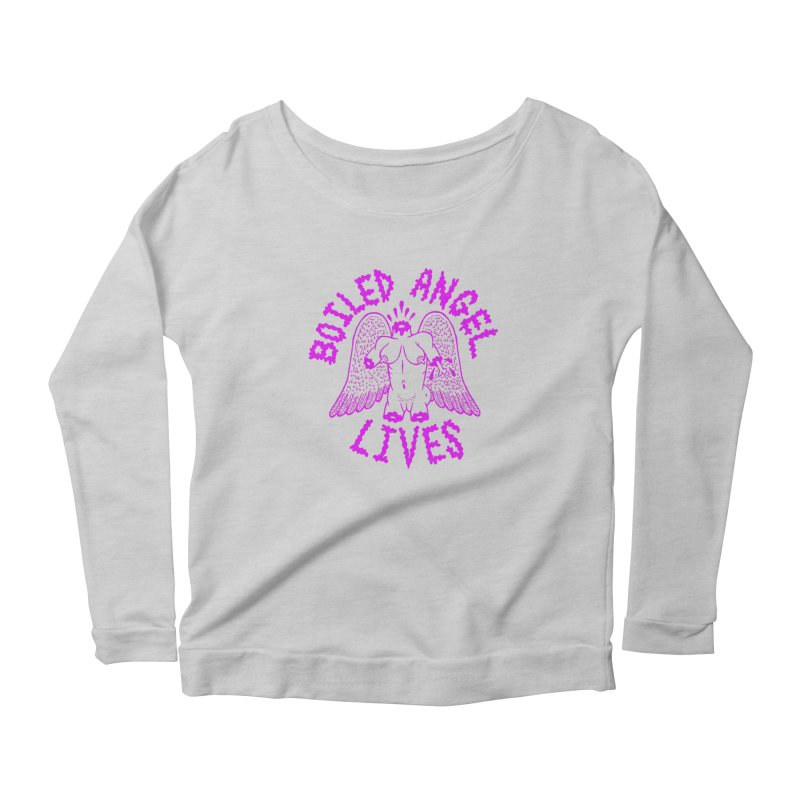 Mike Diana BOILED ANGEL LIVES - Purple Women's Scoop Neck Longsleeve T-Shirt by Mike Diana T-Shirts Mugs and More!