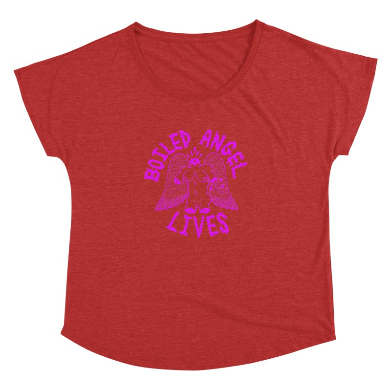 Mike Diana BOILED ANGEL LIVES - Purple Women's Dolman Scoop Neck by Mike Diana T-Shirts Mugs and More!