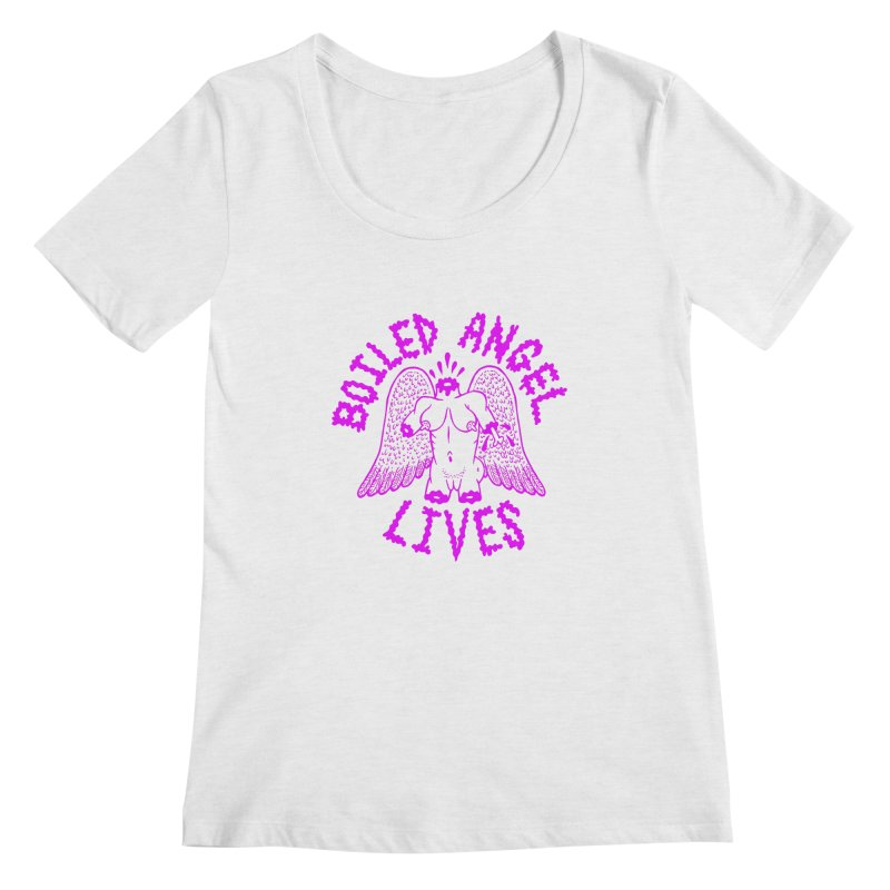 Mike Diana BOILED ANGEL LIVES - Purple Women's Regular Scoop Neck by Mike Diana T-Shirts Mugs and More!