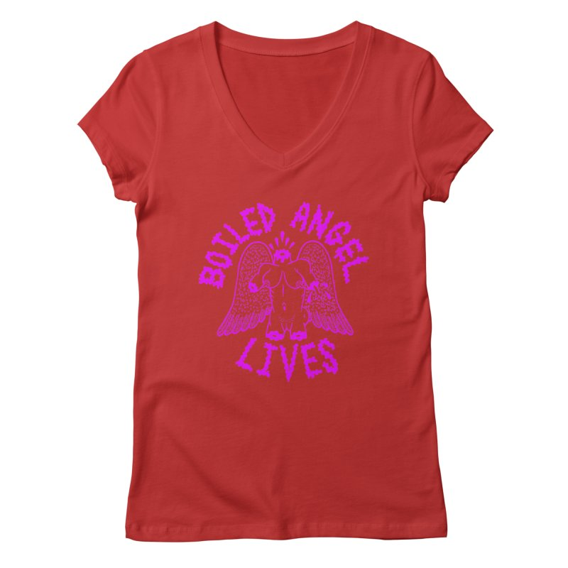 Mike Diana BOILED ANGEL LIVES - Purple Women's Regular V-Neck by Mike Diana T-Shirts Mugs and More!