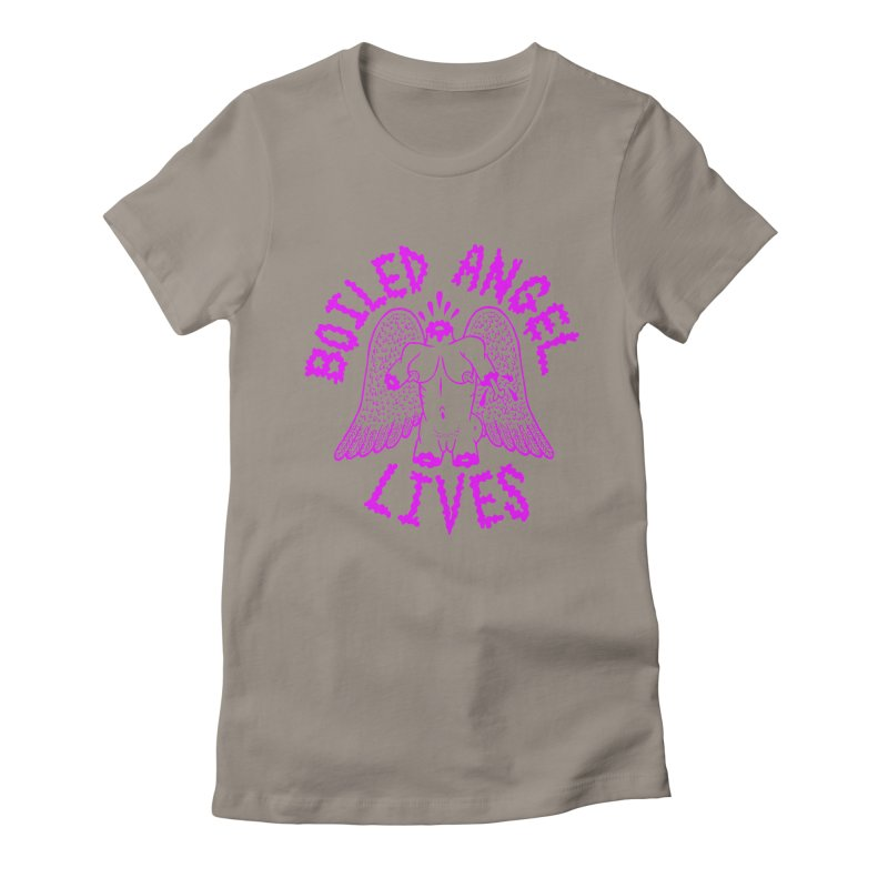 Mike Diana BOILED ANGEL LIVES - Purple Women's Fitted T-Shirt by Mike Diana T-Shirts Mugs and More!