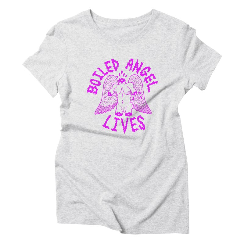 Mike Diana BOILED ANGEL LIVES - Purple Women's Triblend T-Shirt by Mike Diana T-Shirts Mugs and More!