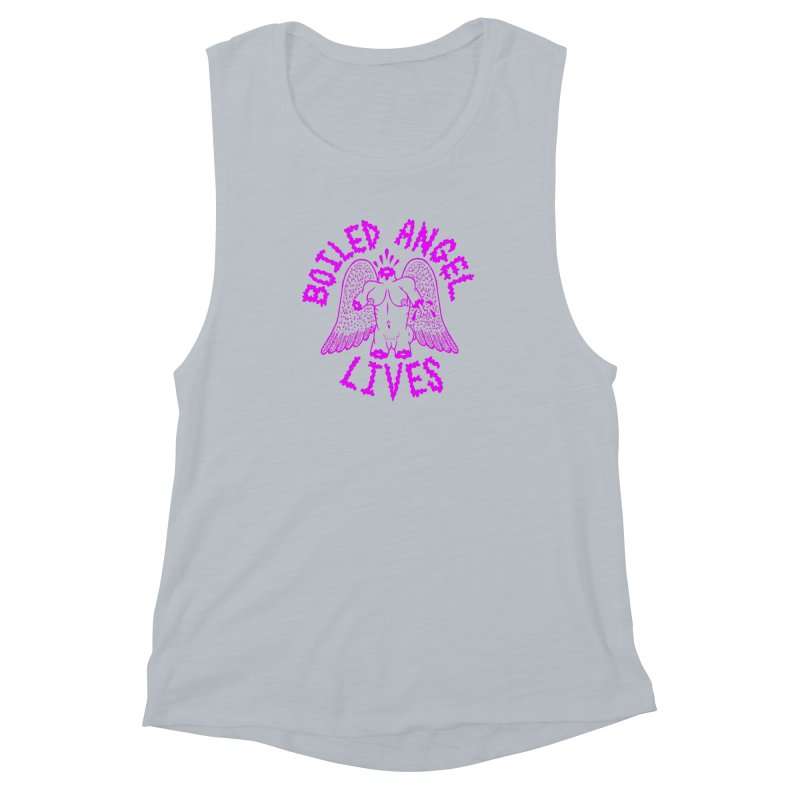 Mike Diana BOILED ANGEL LIVES - Purple Women's Muscle Tank by Mike Diana T-Shirts Mugs and More!