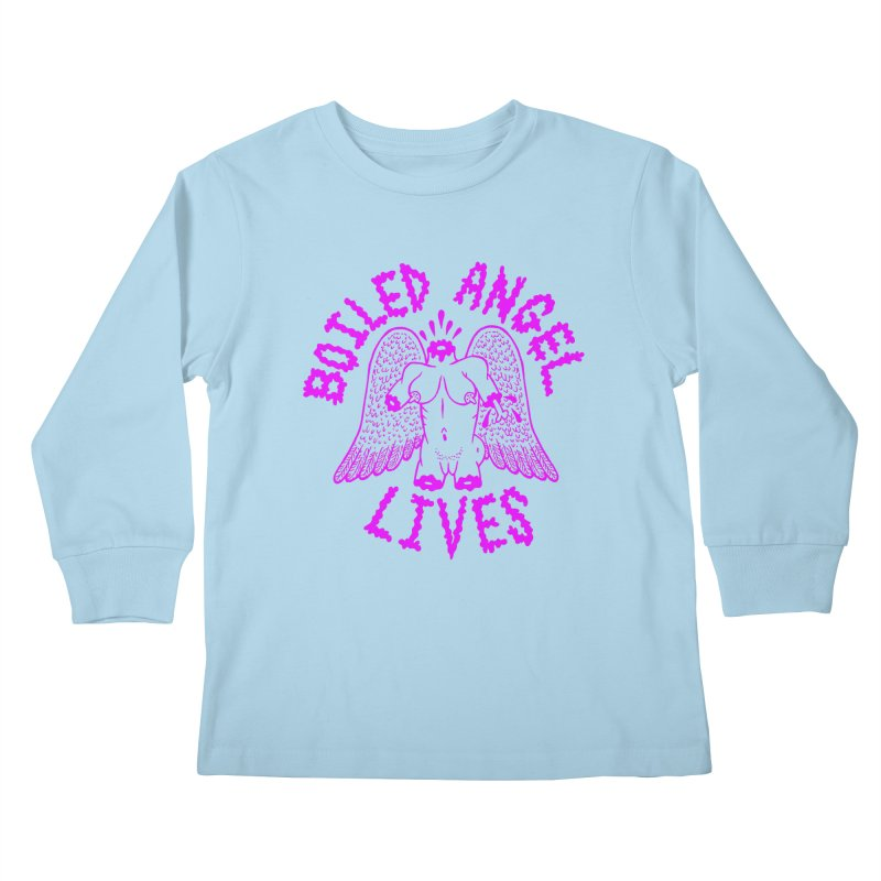 Mike Diana BOILED ANGEL LIVES - Purple Kids Longsleeve T-Shirt by Mike Diana T-Shirts Mugs and More!