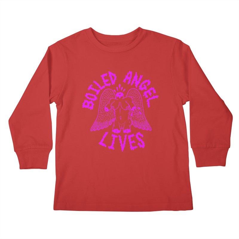 Mike Diana BOILED ANGEL LIVES - Purple Kids Longsleeve T-Shirt by Mike Diana T-Shirts Mugs and More!