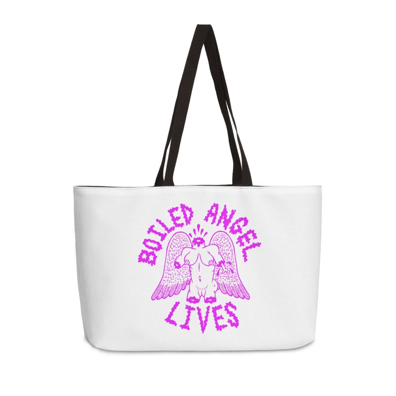 Mike Diana BOILED ANGEL LIVES - Purple Accessories Weekender Bag Bag by Mike Diana T-Shirts Mugs and More!