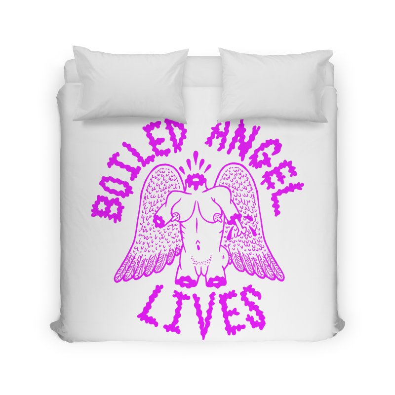 Mike Diana BOILED ANGEL LIVES - Purple Home Duvet by Mike Diana T-Shirts! Horrible Ugly Heads Limited E