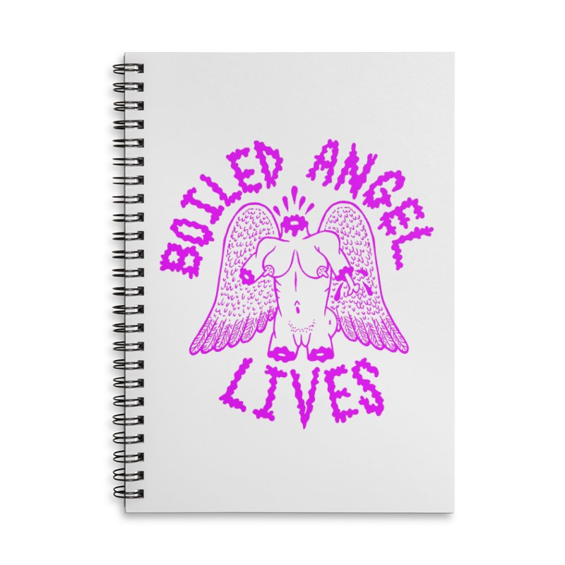 Mike Diana BOILED ANGEL LIVES - Purple Accessories Lined Spiral Notebook by Mike Diana T-Shirts Mugs and More!