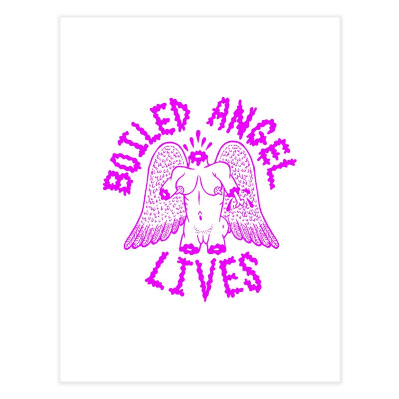 Mike Diana BOILED ANGEL LIVES - Purple Home Fine Art Print by Mike Diana T-Shirts Mugs and More!