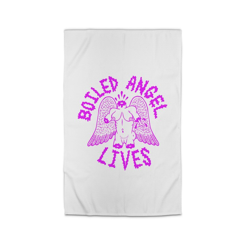 Mike Diana Boiled Angel Lives Purple Home Rug By T Shirts Mugs