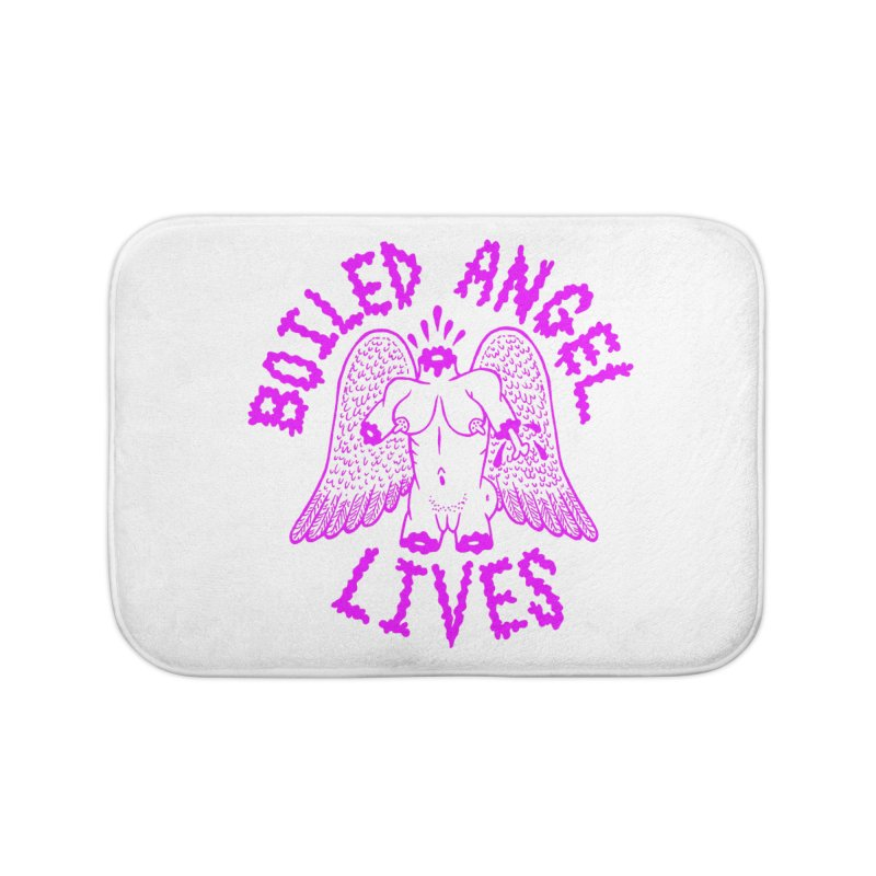 Mike Diana BOILED ANGEL LIVES - Purple Home Bath Mat by Mike Diana T-Shirts Mugs and More!