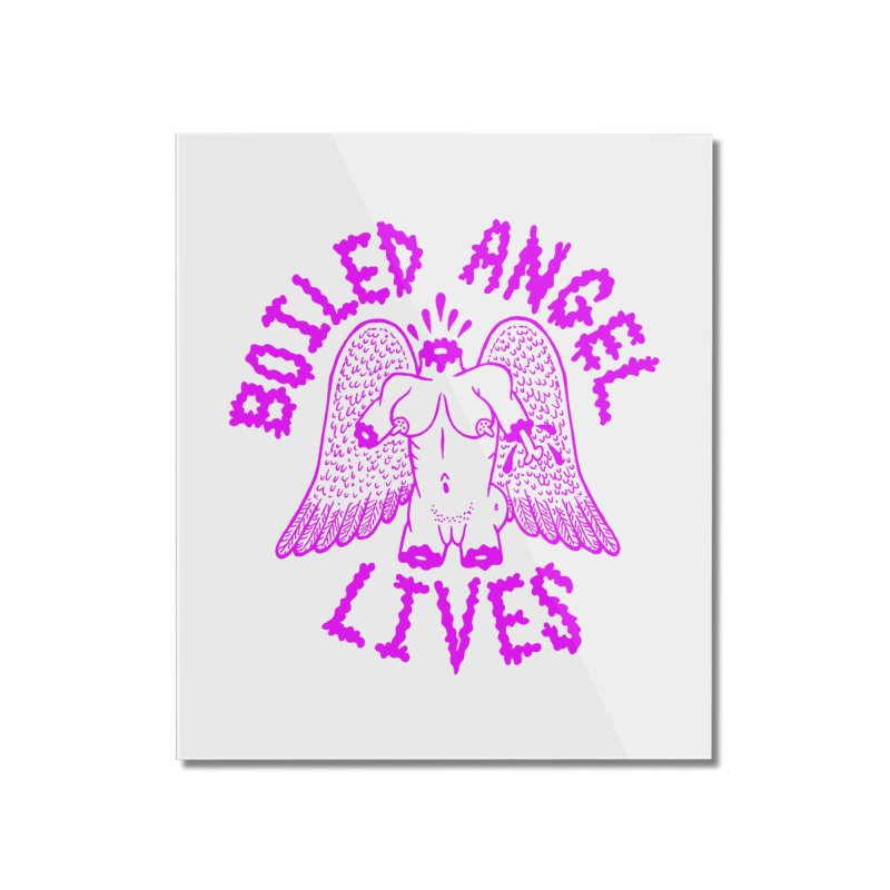 Mike Diana BOILED ANGEL LIVES - Purple Home Mounted Acrylic Print by Mike Diana T-Shirts Mugs and More!