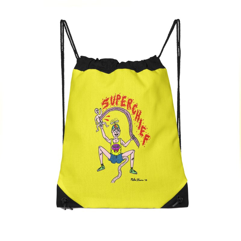 Mike Diana Superchief Kid Accessories Drawstring Bag Bag by Mike Diana T-Shirts Mugs and More!