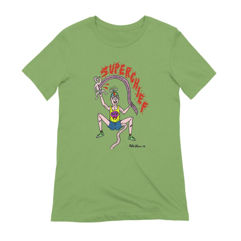 Mike Diana Superchief Kid Women's Extra Soft T-Shirt by Mike Diana T-Shirts Mugs and More!