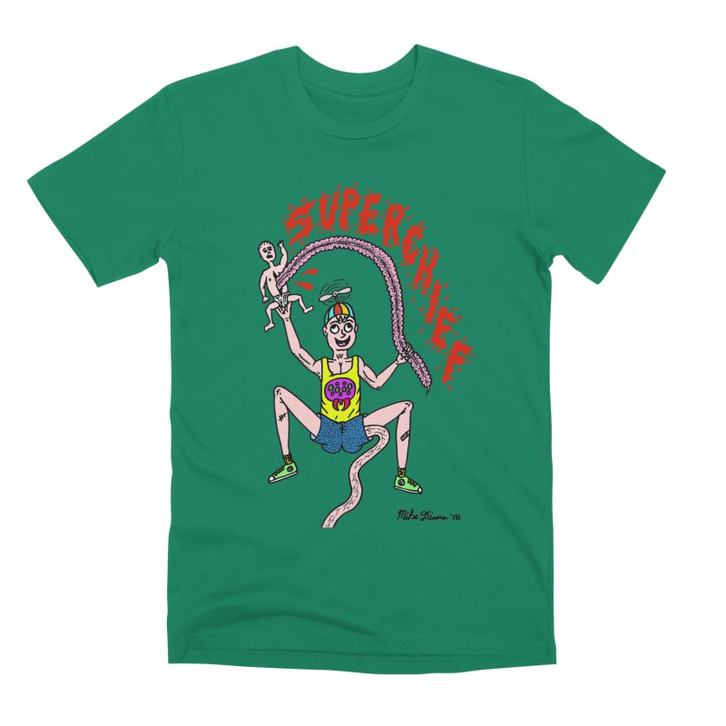 Mike Diana Superchief Kid Men's Premium T-Shirt by Mike Diana T-Shirts Mugs and More!