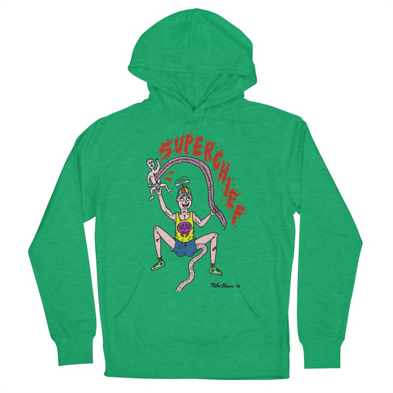 Mike Diana Superchief Kid Men's French Terry Pullover Hoody by Mike Diana T-Shirts Mugs and More!