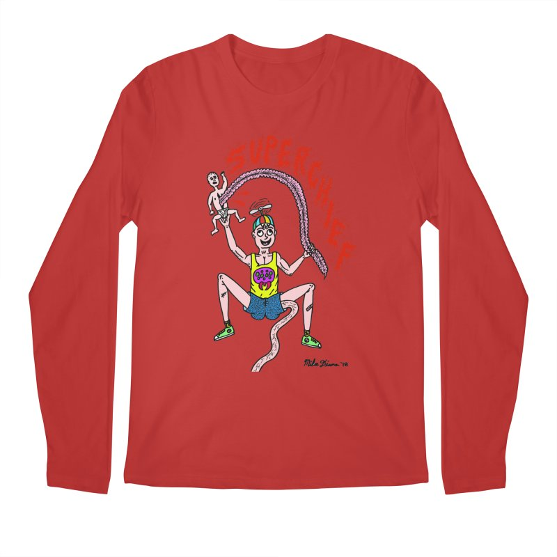 Mike Diana Superchief Kid Men's Regular Longsleeve T-Shirt by Mike Diana T-Shirts Mugs and More!