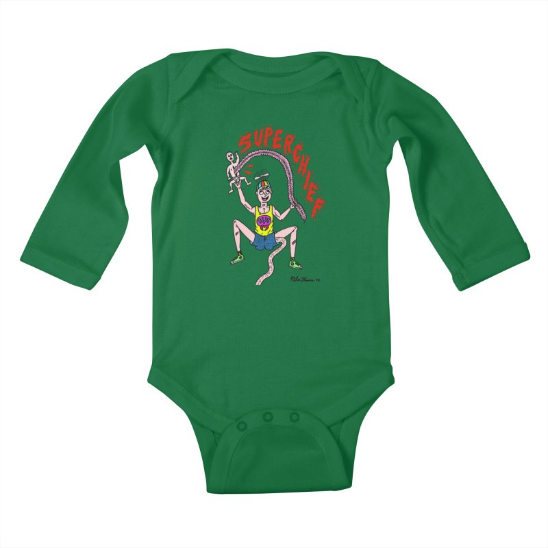 Mike Diana Superchief Kid Kids Baby Longsleeve Bodysuit by Mike Diana T-Shirts Mugs and More!