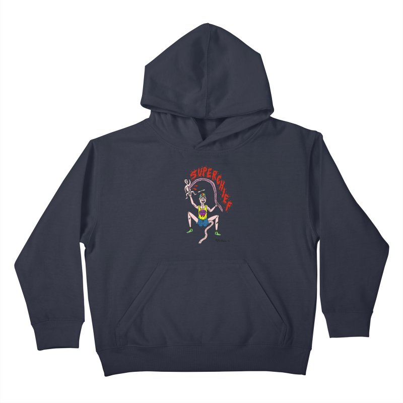 Mike Diana Superchief Kid Kids Pullover Hoody by Mike Diana T-Shirts Mugs and More!