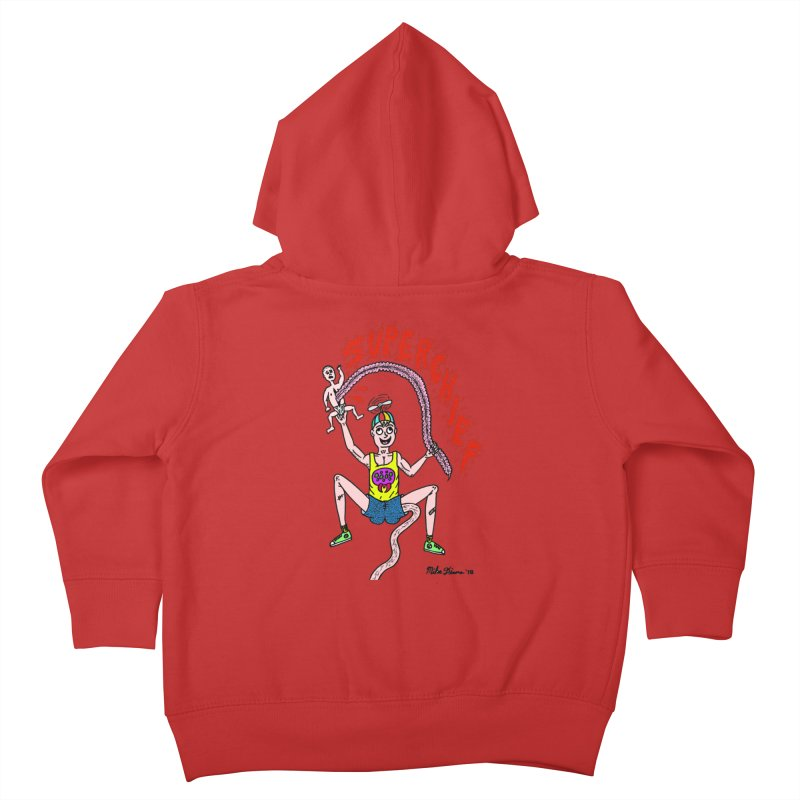 Mike Diana Superchief Kid Kids Toddler Zip-Up Hoody by Mike Diana T-Shirts! Horrible Ugly Heads Limited E