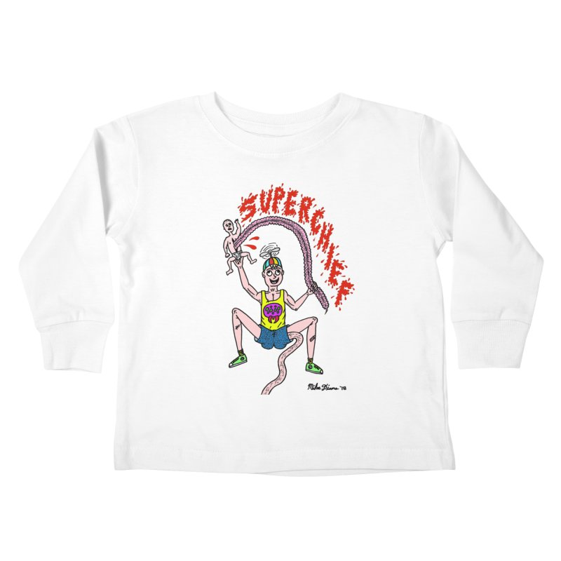 Mike Diana Superchief Kid Kids Toddler Longsleeve T-Shirt by Mike Diana T-Shirts Mugs and More!