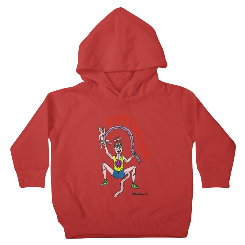 Mike Diana Superchief Kid Kids Toddler Pullover Hoody by Mike Diana T-Shirts! Horrible Ugly Heads Limited E