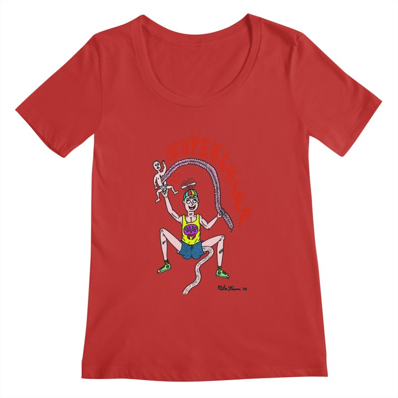 Mike Diana Superchief Kid Women's Regular Scoop Neck by Mike Diana T-Shirts Mugs and More!