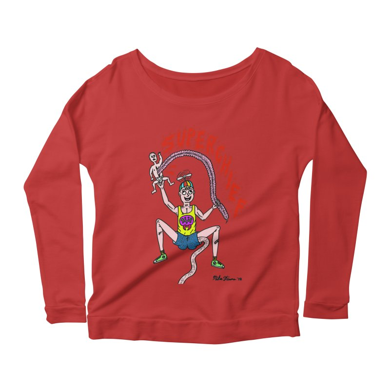 Mike Diana Superchief Kid Women's Scoop Neck Longsleeve T-Shirt by Mike Diana T-Shirts Mugs and More!