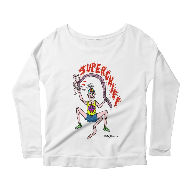 Mike Diana Superchief Kid Women's Scoop Neck Longsleeve T-Shirt by Mike Diana T-Shirts! Horrible Ugly Heads Limited E