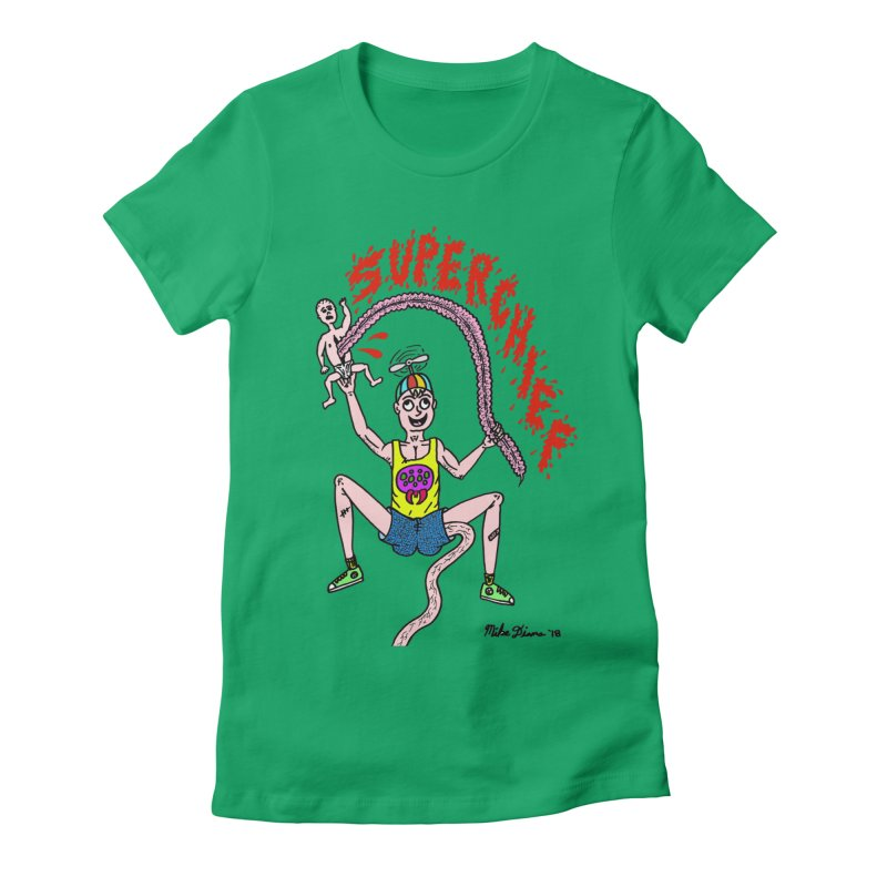 Mike Diana Superchief Kid Women's Fitted T-Shirt by Mike Diana T-Shirts Mugs and More!