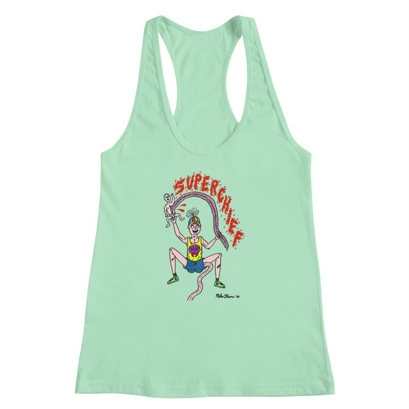Mike Diana Superchief Kid Women's Racerback Tank by Mike Diana T-Shirts Mugs and More!