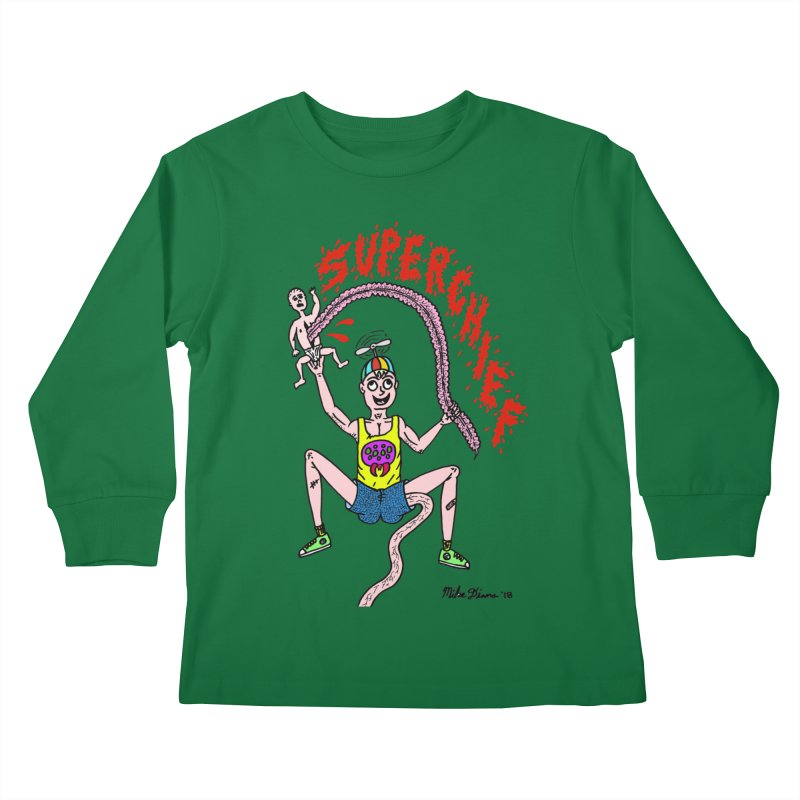 Mike Diana Superchief Kid Kids Longsleeve T-Shirt by Mike Diana T-Shirts Mugs and More!