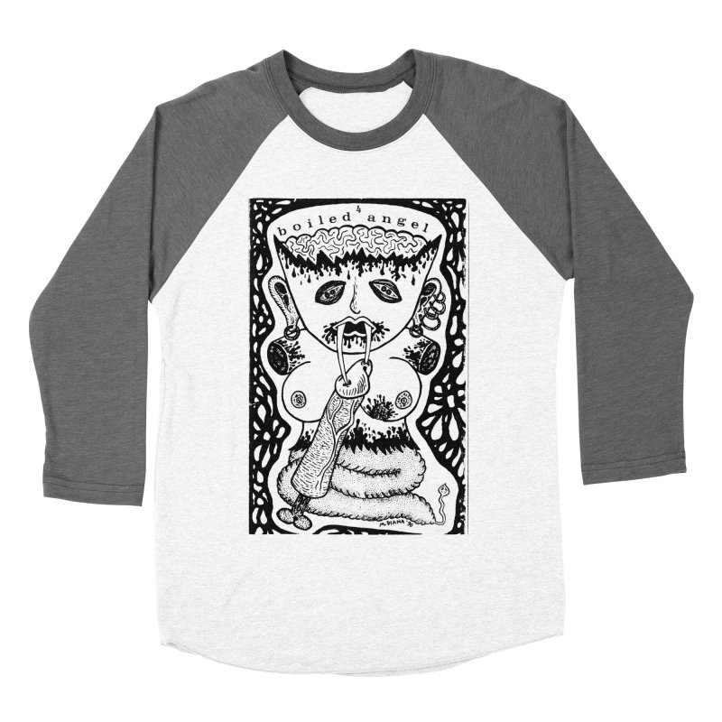 Mike Diana - Boiled Angel #4 Cover Men's Baseball Triblend Longsleeve T-Shirt by Mike Diana T-Shirts! Horrible Ugly Heads Limited E