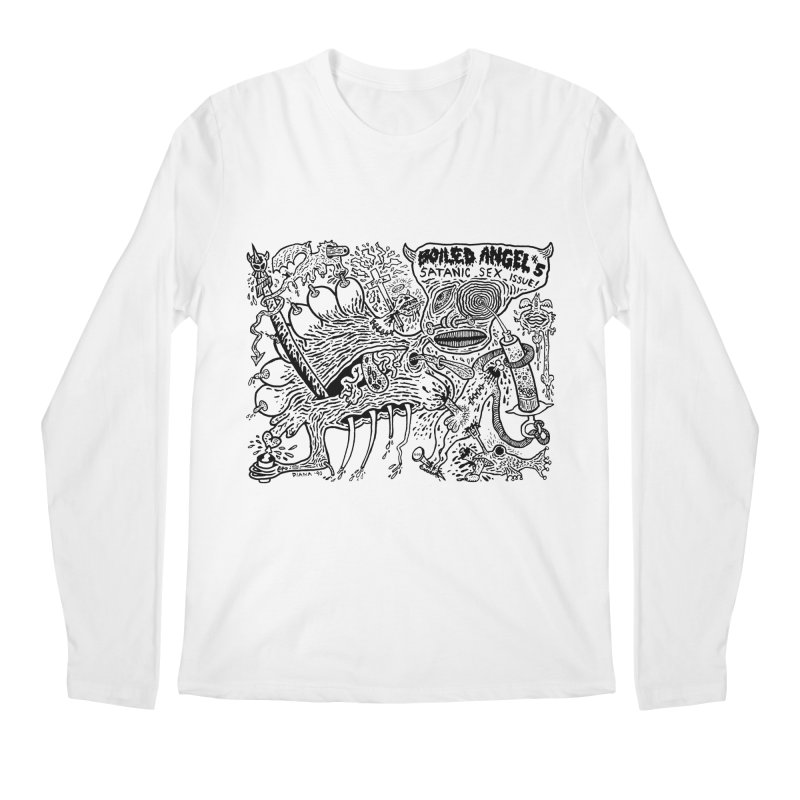 Mike Diana - Boiled Angel #5 Cover Men's Regular Longsleeve T-Shirt by Mike Diana T-Shirts! Horrible Ugly Heads Limited E