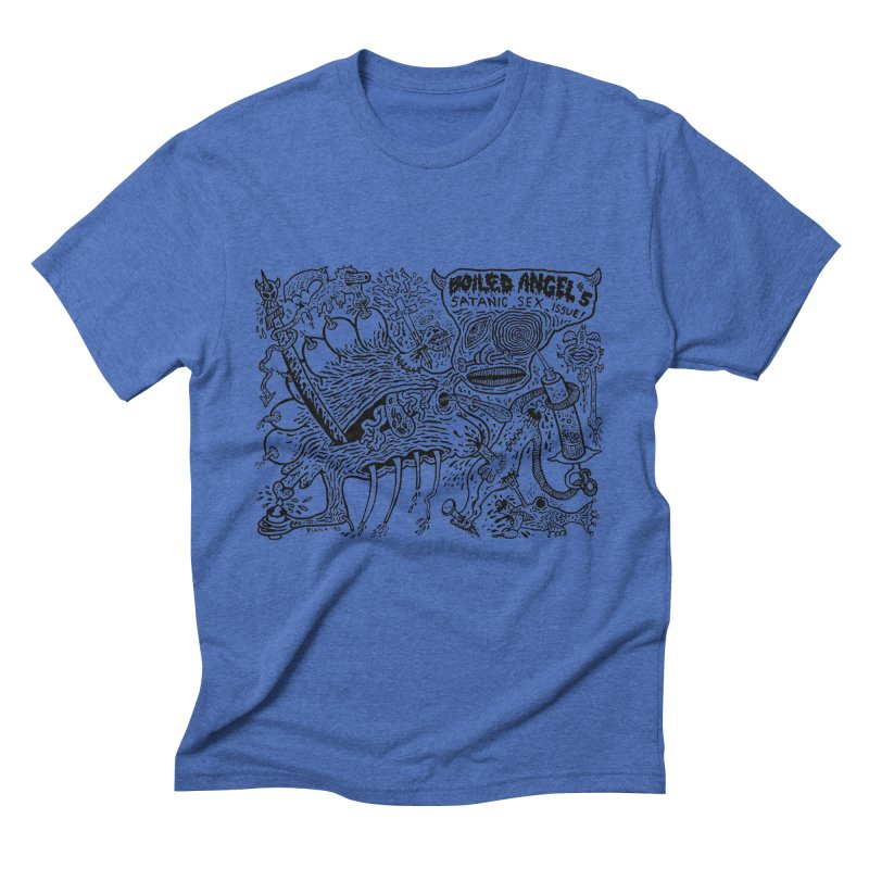 Mike Diana - Boiled Angel #5 Cover Men's Triblend T-Shirt by Mike Diana T-Shirts! Horrible Ugly Heads Limited E