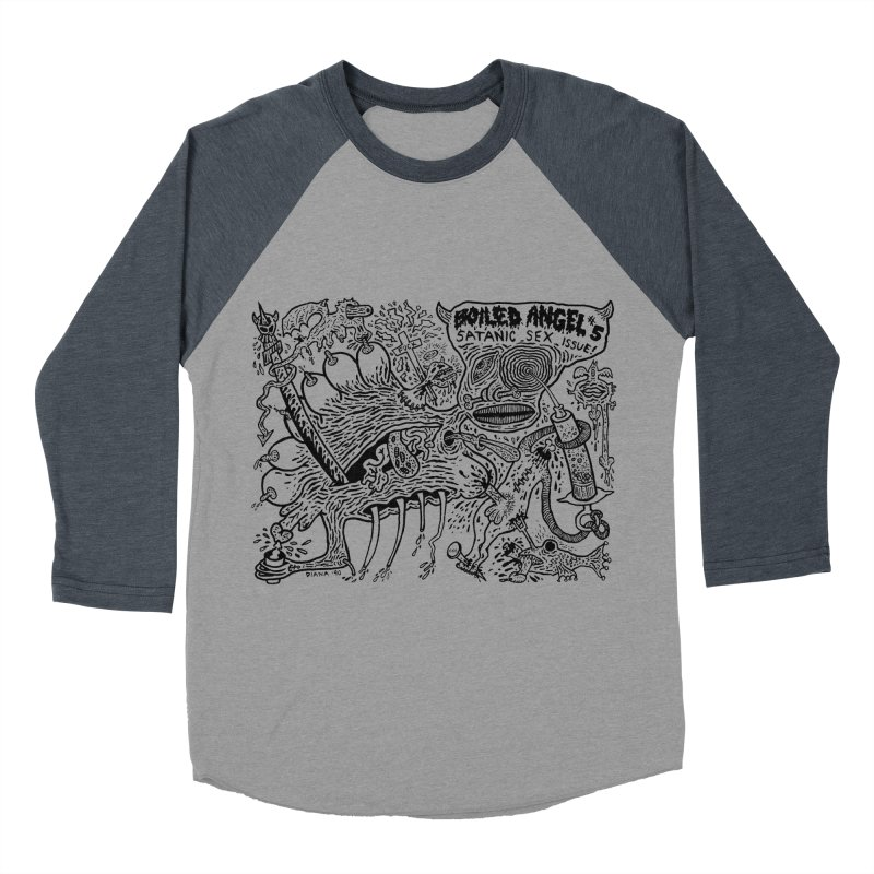 Mike Diana - Boiled Angel #5 Cover Men's Baseball Triblend Longsleeve T-Shirt by Mike Diana T-Shirts Mugs and More!