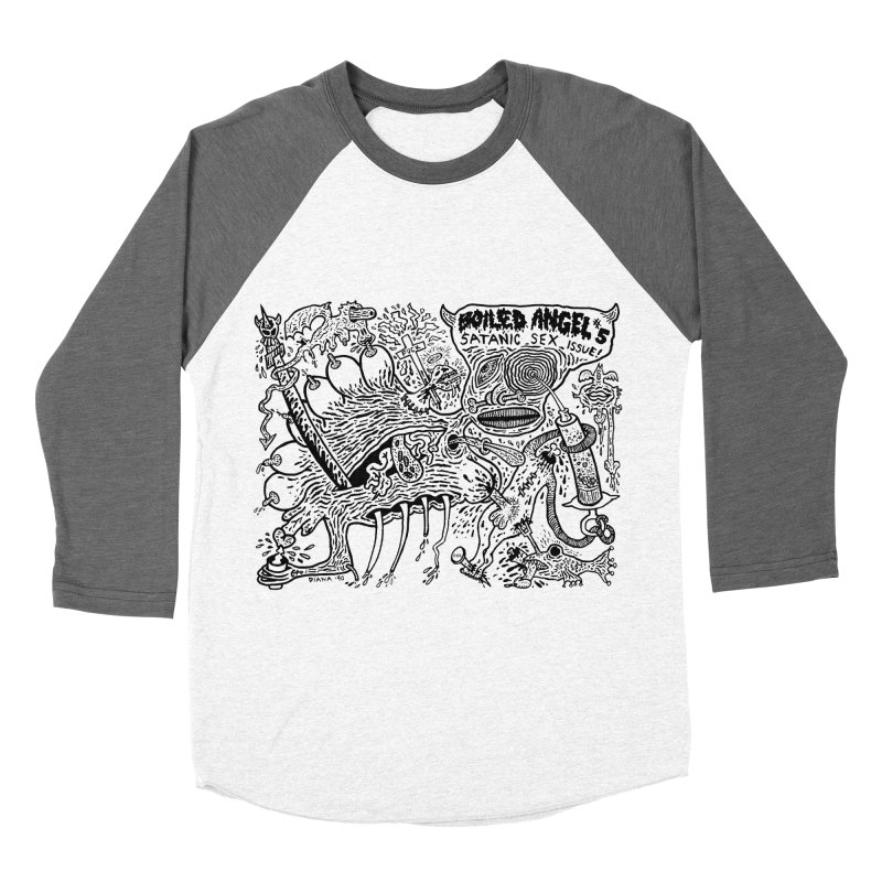 Mike Diana - Boiled Angel #5 Cover Men's Baseball Triblend Longsleeve T-Shirt by Mike Diana T-Shirts! Horrible Ugly Heads Limited E